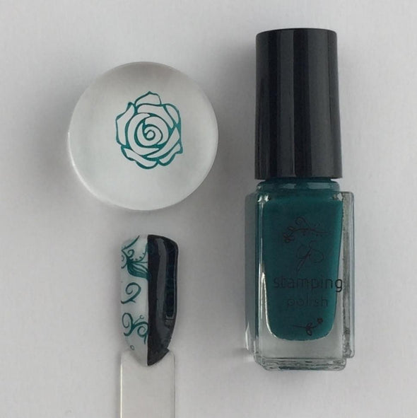 #39  Teal or no Deal! - Nail Stamping Color (5 Free Formula)