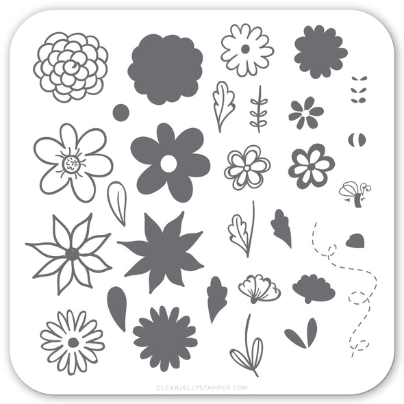 Petals on Point (CjS-65) Steel Stamping Plate