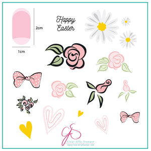 Easter Egg Dainty Decals (CjSH-54) Steel Stamping Plate