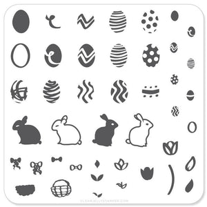 Peter Cottontail's Easter Eggs (CjSH-02) - Steel Stamping Plate