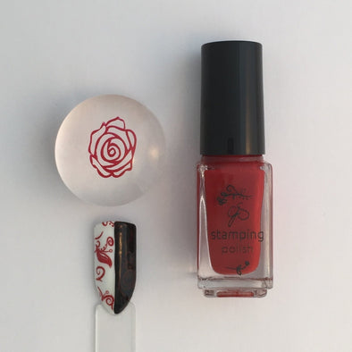 #09 REDy for Anything -Nail Stamping Color (5 Free Formula)