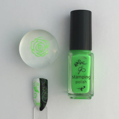 #12 Glee Tree Green - Nail Stamping Color (5 Free Formula)