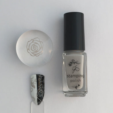 #15 Stone Cold - Nail Stamping Color (5 Free Formula)