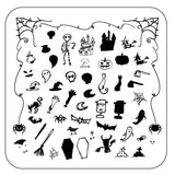 Haunted Doodle (CjSH-38) Steel Stamping Plate