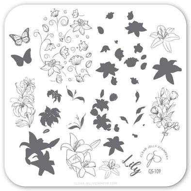 Lovely Lilies (CjS-109) Steel Stamping Plate