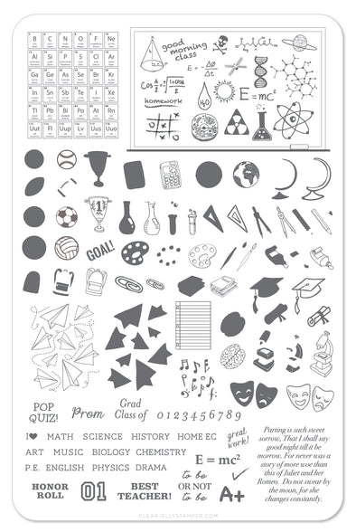 Back to School - Scholastic (CjS-43) Steel Stamping Plate