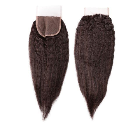 Mayvenn Hair Extensions Brazilian Kinky Straight Lace Closure