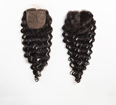 Mayvenn Hair Extensions Peruvian Deep Wave Silk Closure