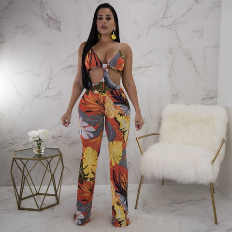 Virgin Pearls Collection Jumpsuit Jacky Cutout Print Jumpsuit Diva Boutique MayvennHair Virgin Pearls Beauty fashion Hair