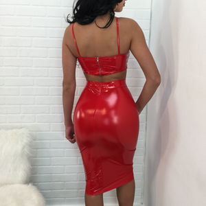 Virgin Pearls Collection Set Sandra Latex Skirt Set