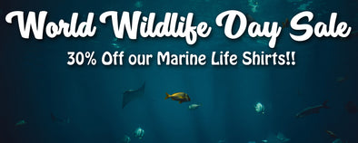 Celebrate World Wildlife Day - Save 30 % on Marine Wildlife T-Shirts