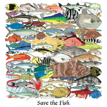 Save the Fish t-shirt environmental wildlife t shirts