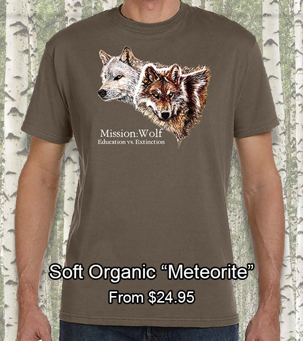 brown tan organic mission wolf t-shirt
