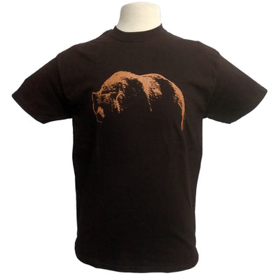 Bear Mountain Grizzly Bear Dark Brown T Shirt from Jim Morris
