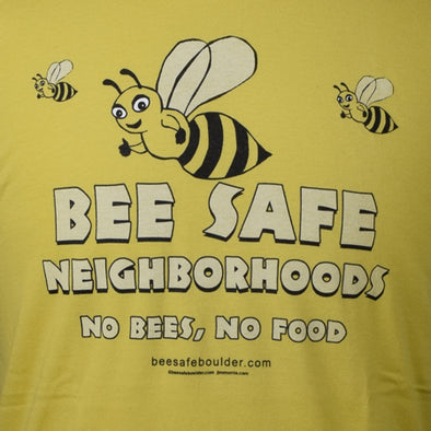 Bee Safe Yellow Honey Bee T-Shirt