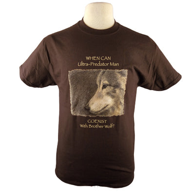 Brother Wolf T Shirt Chocolate Brown