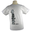 Cairn Yoga Nature Rock Stacking T Shirt Balance in Heavyweight Sport Grey