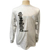 Cairn Yoga Nature Rock Stacking T Shirt Balance Sport Grey Long Sleeve T Shirt