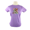 Butterfly Garden Hummingbird Monarch Dragonfly Floral T Shirt Lavender Women's T Shirt