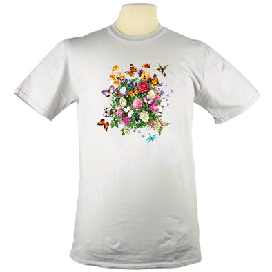 Jim Morris Environmental Butterfly Garden Floral T Shirt