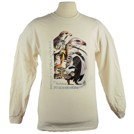 Birds of Sage and Prairie Audubon Long Sleeve T Shirt