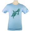 Turtles Embrace design on Men's Slim Fit Organic t-shirt in Light Blue