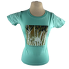 Timber Wolf design on Women's Soft Relaxed Fit t-shirt in Light Teal