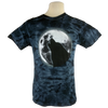 Glow Wolf design on Men's Heavyweight t-shirt in Crystal Black