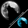 Detail of Glow Wolf design, featuring a wolf howling at a glow in the dark full moon