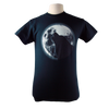 Glow Wolf design on Men's Heavyweight t-shirt in Black