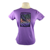 Great Blue Heron design on Women's Soft Relaxed Fit t-shirt in Lavender