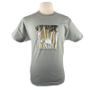 Timber Wolf design on Men's Heavyweight t-shirt in Pale Green