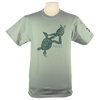 Turtles Embrace design on Men's Heavyweight t-shirt in Pale Green