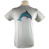 Dolphin design on Men's Slim Fit Organic t-shirt in Silver