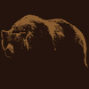 Detail of Bear Mountain wildlife t-shirt design portraying a grizzly bear that looks like a mountain