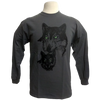 Green Eyed Wolf design on Men's Longsleeve shirt in Charcoal