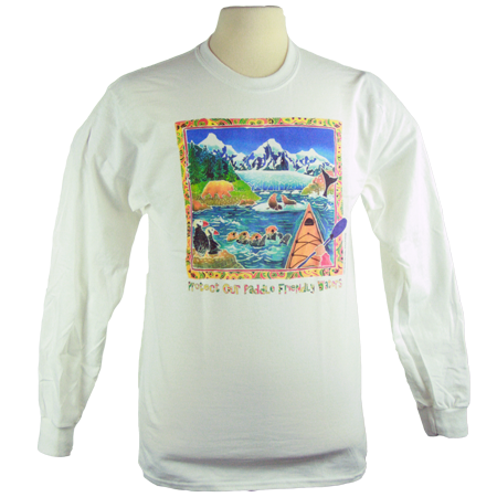 Paddle Friends design on Men's Longsleeve shirt in White