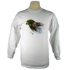 Swainson's Hawk design on Men's Longsleeve shirt in White
