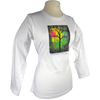 Sunshine design on Women's Longsleeve shirt in White