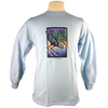 Great Blue Heron design on Men's Longsleeve shirt in Light Blue