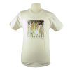 Timber Wolf design on Men's Slim Fit Organic t-shirt in Natural