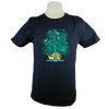 Tree of Life Heavyweight T-Shirt in Navy Blue