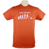 Dog Walker design on Men's Heavyweight t-shirt in Texas Orange