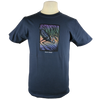 Great Blue Heron design on Men's Slim Fit Organic t-shirt in Pacific Blue
