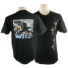 Raven Tracks design on Men's Heavyweight t-shirt in Black
