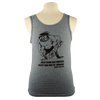 Nuclear Club design on Men's Tank Top shirt in Heather Grey