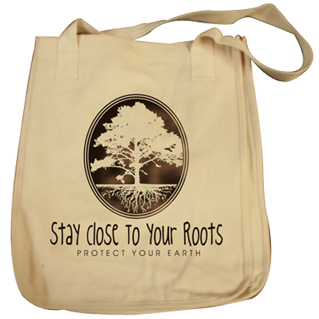Stay Close to Your Roots design on Tote Bag in Natural
