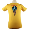 I Scream design on Men's Slim Fit Organic t-shirt in Gold