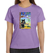 Black Bear Cub T-Shirt on Women's Lavender