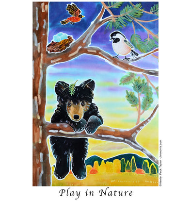 Black Bear Cub Play in Nature T Shirt by Harriet Peck Taylor
